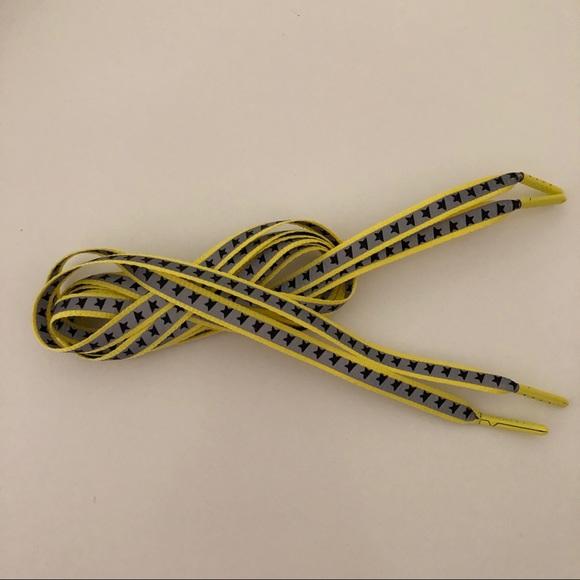 Golden Goose Yellow Grey Star Shoelaces
